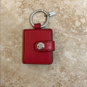 Coach red keychain. Used